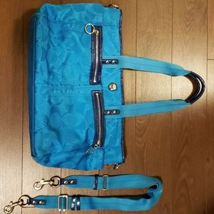 Coach diaper bag travel tote with shoulder strap